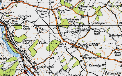 Old map of Chiltern Green in 1946