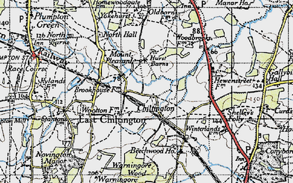 Old map of Yokehurst in 1940