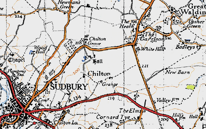 Old map of Chilton in 1946