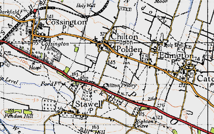 Old map of Chilton Polden in 1946