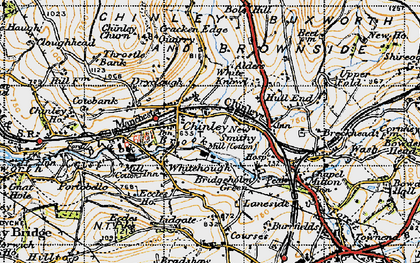 Old map of Chinley in 1947