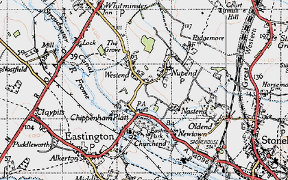 Old map of Chipmans Platt in 1946