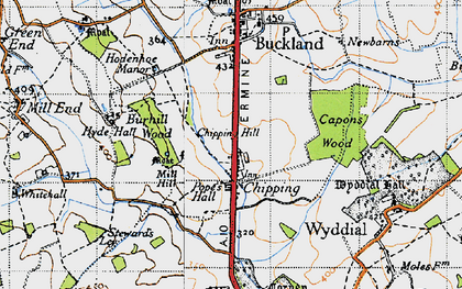 Old map of Chipping in 1946