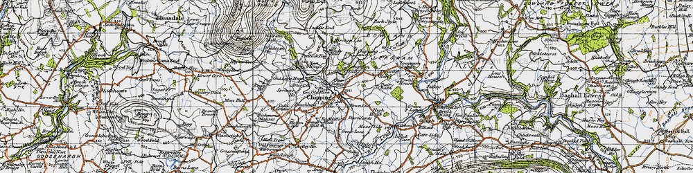 Old map of Wolfen Hall in 1947