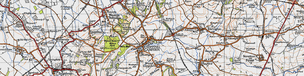Old map of Chipping Campden in 1946