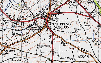Old map of Chipping Norton in 1946