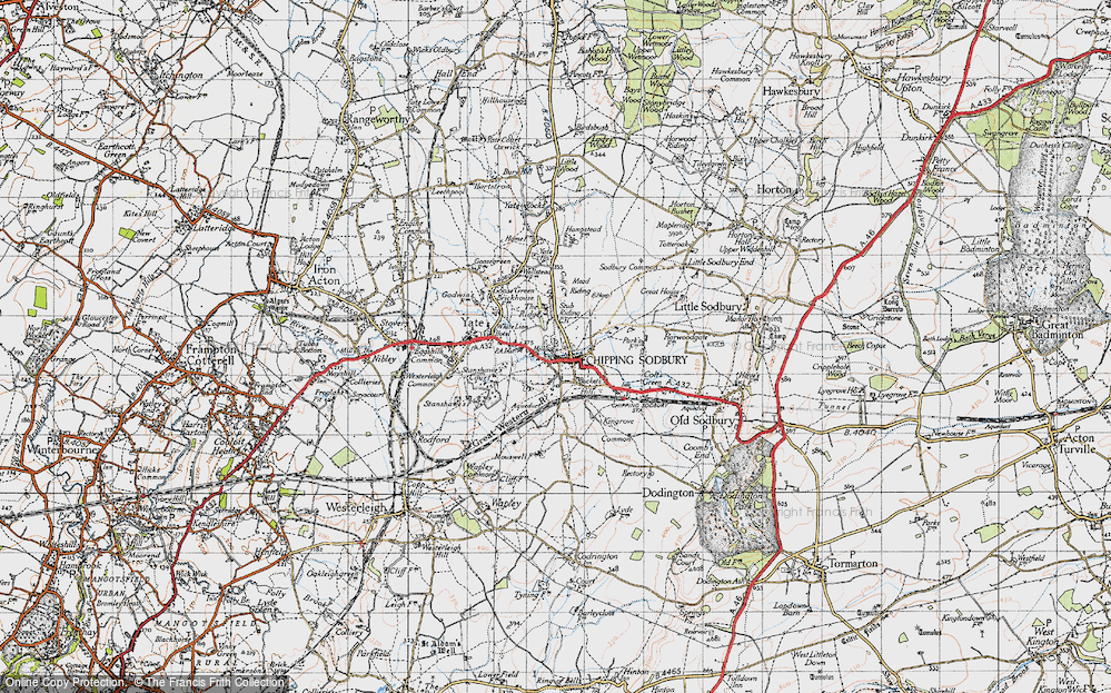Old Map of Chipping Sodbury, 1946 in 1946