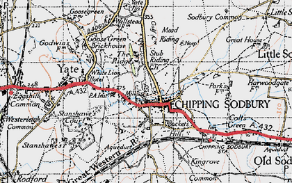 Old map of Chipping Sodbury in 1946