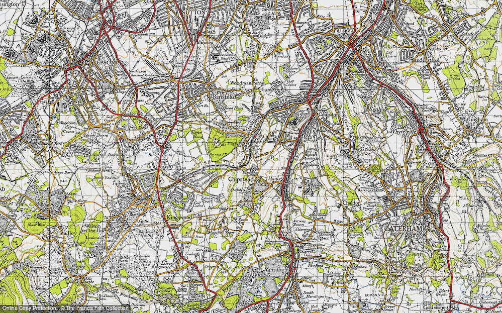 Old Map of Chipstead, 1945 in 1945