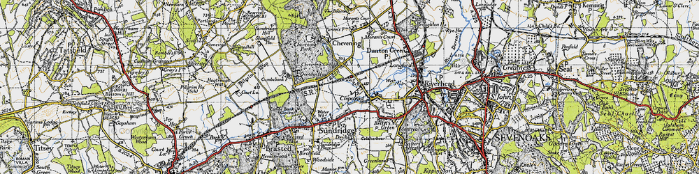 Old map of Chipstead in 1946