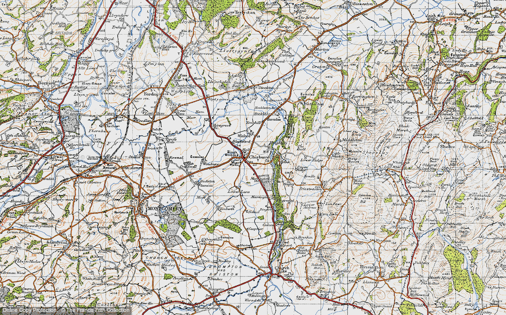 Old Map of Historic Map covering Timberth in 1947