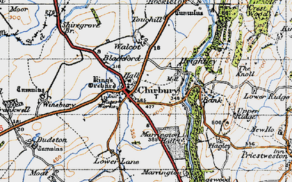 Old map of Bank in 1947