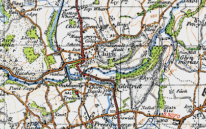 Old map of Chirk in 1947