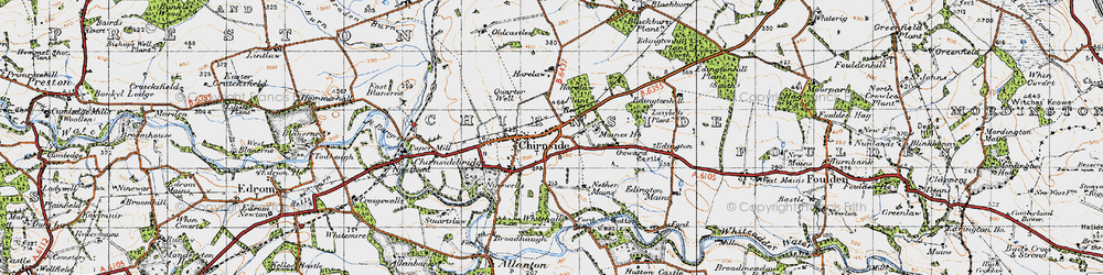 Old map of Lazybeds Plantn in 1947