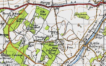 Old map of Almshouse Copse in 1940
