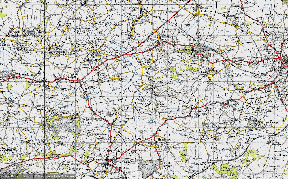 Old Map of Historic Map covering Balham Hill in 1945