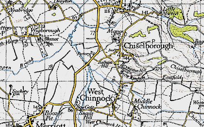 Old map of Balham Hill in 1945