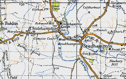 Old map of Chiselhampton in 1947