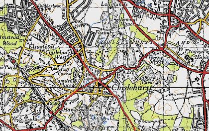 Old map of Chislehurst in 1946
