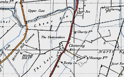 Old map of Chittering in 1946