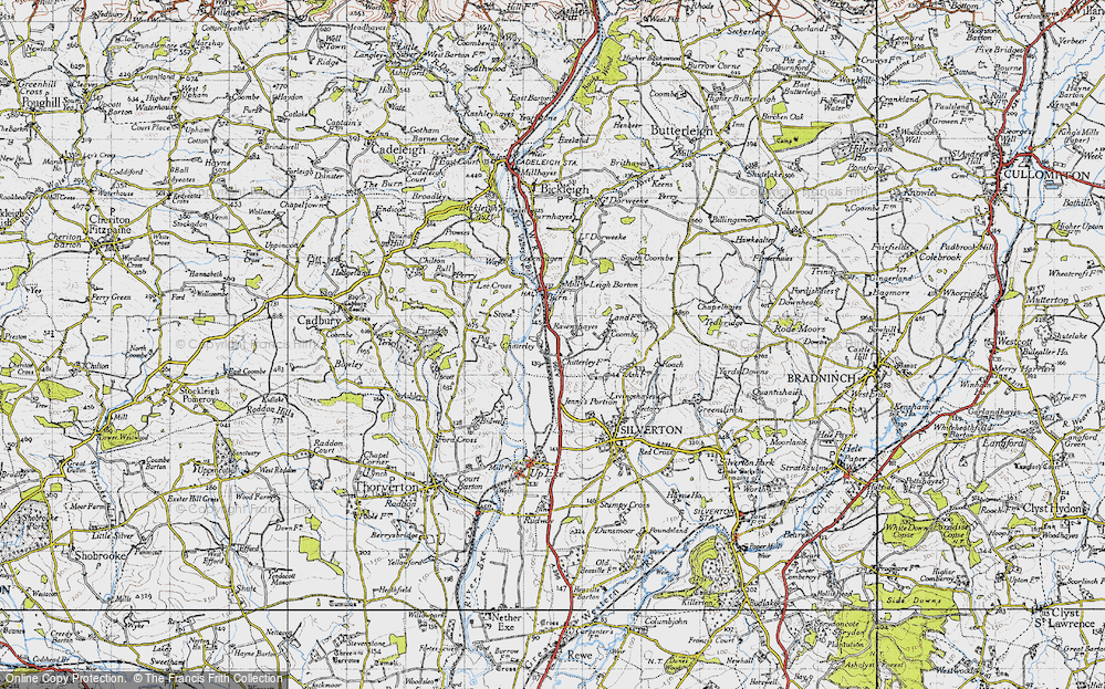 Old Map of Historic Map covering Lee Cross in 1946