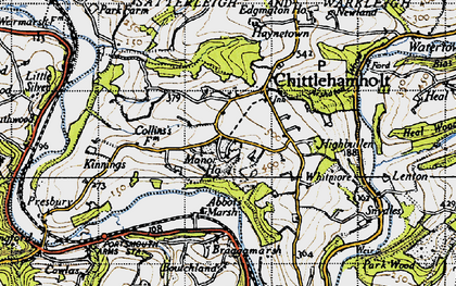 Old map of Whitmore in 1946