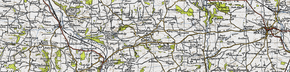 Old map of Winson in 1946