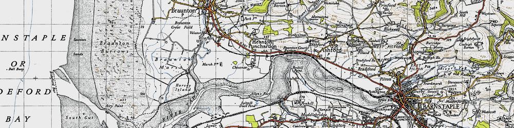 Old map of Allen's Rock in 1946