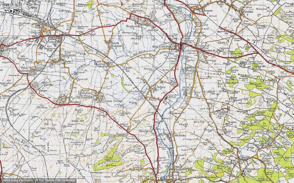 Old Map of Cholsey, 1947 in 1947