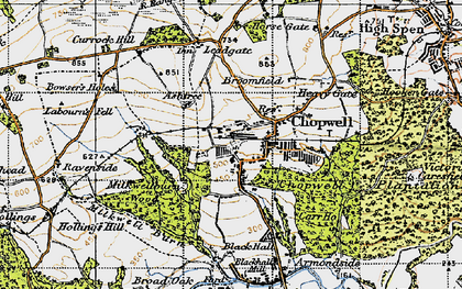 Old map of Ashtree in 1947