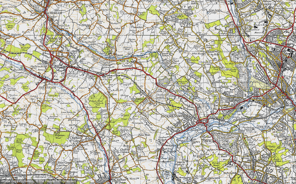 Old Map of Chorleywood, 1946 in 1946