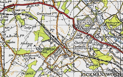 Old map of Chorleywood in 1946