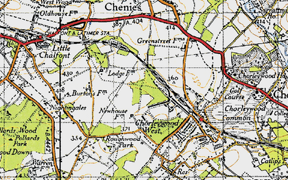Old map of Chorleywood West in 1946