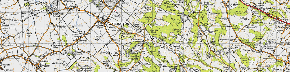 Old map of White Mark in 1947