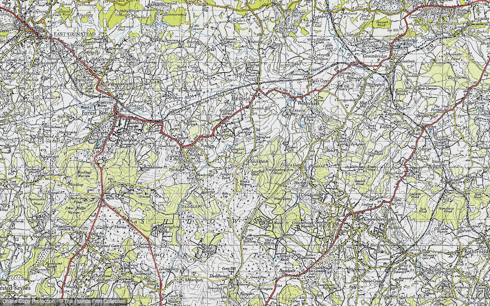 Old Map of Chuck Hatch, 1940 in 1940