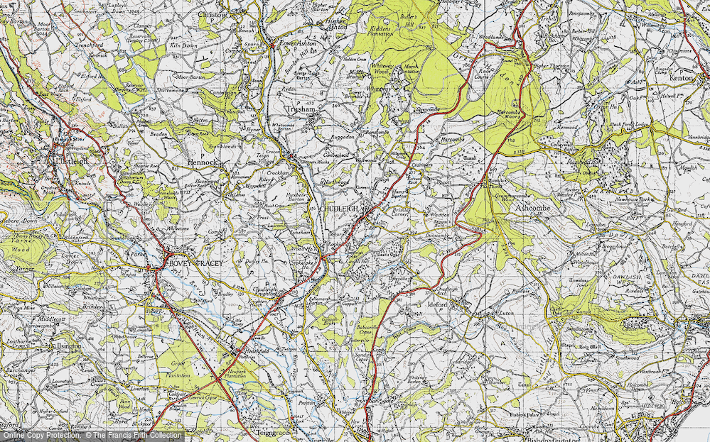 Old Map of Historic Map covering Lawell Ho in 1946