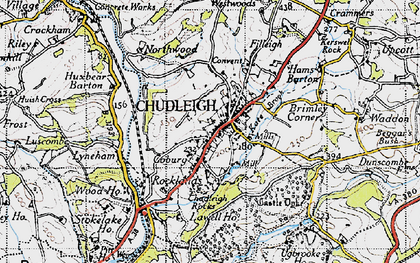 Old map of Chudleigh in 1946