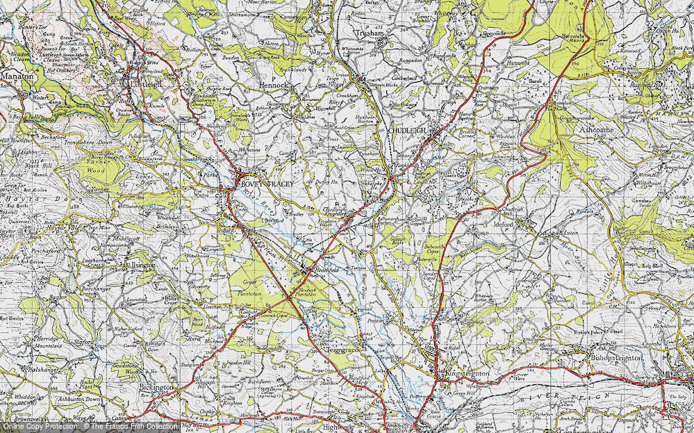 Old Map of Chudleigh Knighton, 1946 in 1946