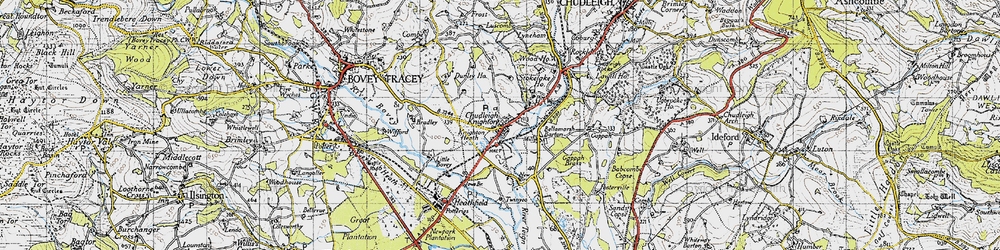 Old map of Chudleigh Knighton in 1946