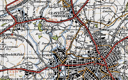 Old map of Church in 1947