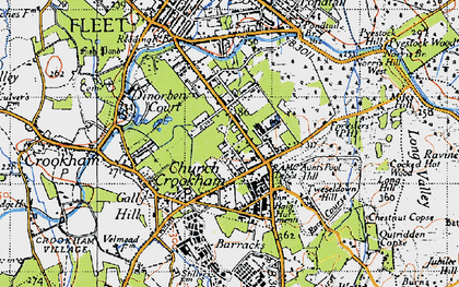 Old map of Aunt's Pool Hill in 1940