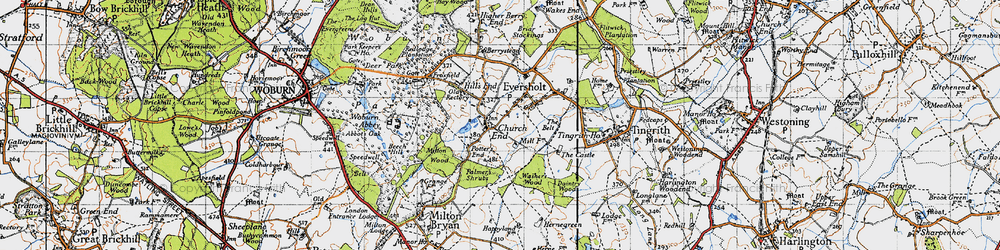 Old map of Witts End in 1946