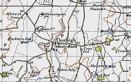 Old map of Backnoe End in 1946