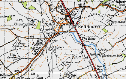 Old map of Aubreys, The in 1946