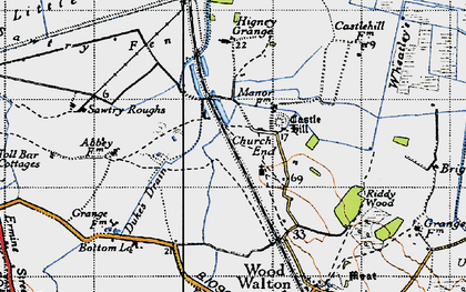 Old map of Wheatley's Drain in 1946