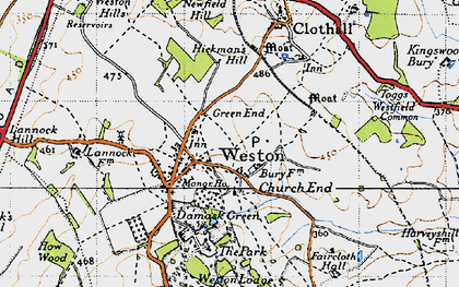 Old map of Church End in 1946