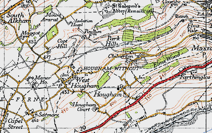 Old map of Abbot's Cliff in 1947