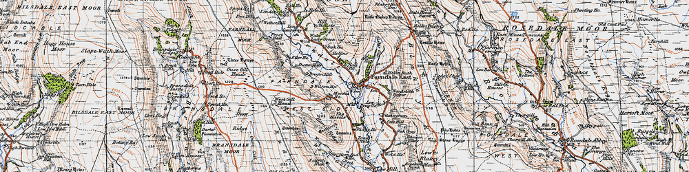 Old map of Woodstock Bower in 1947