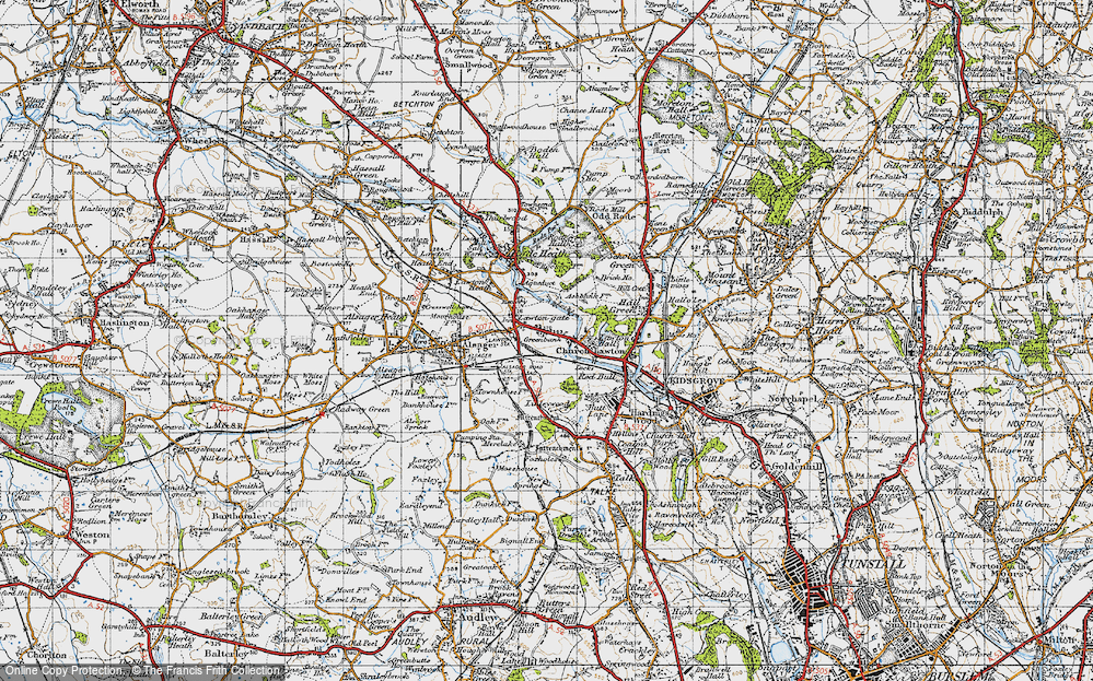 Old Map of Church Lawton, 1947 in 1947