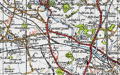 Old map of Church Lawton in 1947